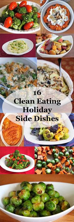 16 Clean Eating Holiday Side Dishes #vegetarian #glutenfree #Christmas #healthy
