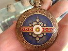 the old copper double face amazing work great pocket watch clock belle draw free