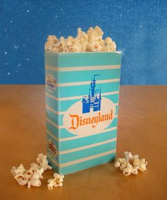 collectible ceramic replica of the original disneyland popcorn boxes c.1960's