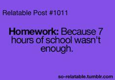 homework information