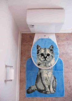 kitty toilet seat cover