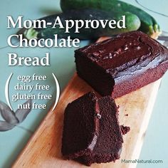 Delicious #recipe that's great for folks with #foodallergies. #Chocolate #zucchinibread that is #glutenfree #dairyfree #eggfree #nutfree (bu...