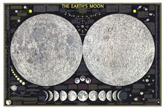 Earths Moon Map 1969 from Maps.com #Maps.com