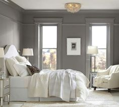 Pottery Barn ~ white and gray