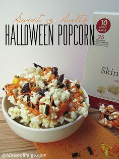 Halloween Popcorn, after school snack or Halloween party food.