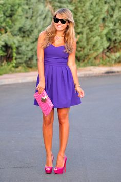Purple and pink