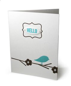 DIY Letterpress Spring Greeting Card using Lifestyle Crafts Posy Printing Plates. #diy #letterpress #hello