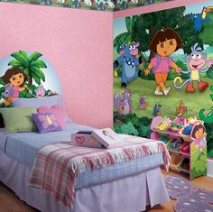 Ideas on pinterest princess theme bedroom dora the for Dora the explorer bedroom ideas
