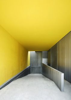 yellow ceiling #yellow #architecture