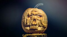 Pumpkin Lobotomy Stop-Motion. Pumpkin Lobotomy Time-Lapse  Maniac Pumpkin Carver, Brooklyn based Chris Soria spent 15 hours carving this ama...