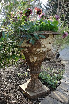 love the antique urn Many antique urns available at American Home & Garden in Ventura CA.