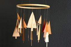 craft, baby mobiles, wood, nurseri, trees, babi, embroidery hoops, tree mobil, diy