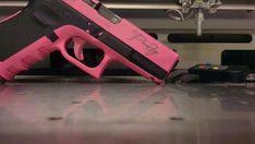 Pink engraved gun
