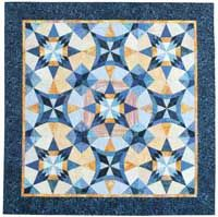 Quilter's Newsletter August/September 2014, On the Cover: Bonnie's Rocky Mountain Star, designed by Mary Leman Austin.