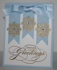 Blue & Gold Xmas by OregonStamper - Cards and Paper Crafts at Splitcoaststampers
