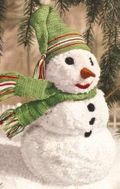 free crochet pattern for snowman