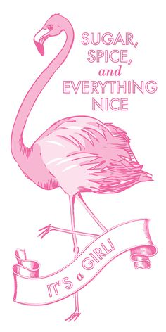Flamingo Sign for Baby Nursery or Shower by ChocolateButterbean