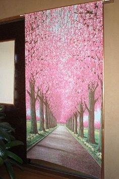 Japanese-Noren-Doorway-Curtain-cherry-blossoms-$50