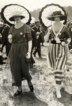 France ~ 1919 That outfit is a straight up Chanel original there on the left, and both are wearing original chapeaux also by Mademoiselle Chanel