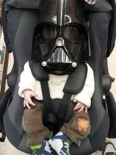 Darth Vader arrives in style... #funny #car picture!