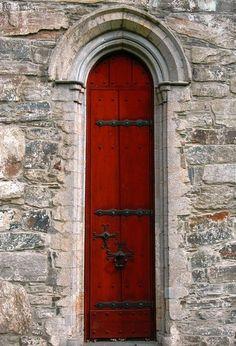 Tall skinny-Red-Door