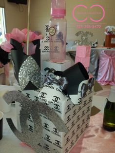 CHANEL Baby Shower Party Ideas!  See more party ideas at CatchMyParty.com!