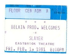 Slayer ticket stub
