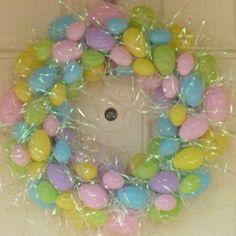 Easter egg wreath...