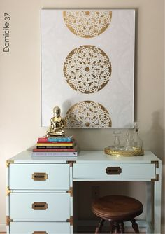 DIY Stenciled Medall