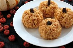Pumpkin Rice Krispie Treats, gluten-free