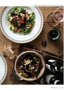 Roasted pheasant breast with peas, fava beans & wild mushrooms