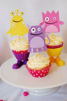 party favors, favor bags, monster parti, monster cupcak, monster party
