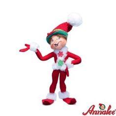 """Annalee """"Red Corduroy Elf"""""""