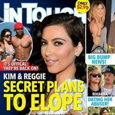 In Touch Weekly: Kim Kardashian Eloping With Reggie Bush (Photo)