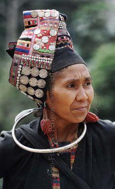 Laos | Portrait of an Akha Pala woman.  Phongsaly province, Lao PDR | © Jeff Perigois.