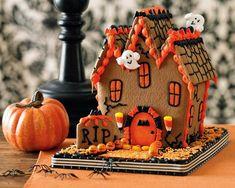 Halloween ginger bread house