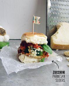 Zucchini Parmesan Sliders