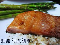 Brown Sugar Salmon from BigFunCooking.com #GlutenFree #60minuterecipe