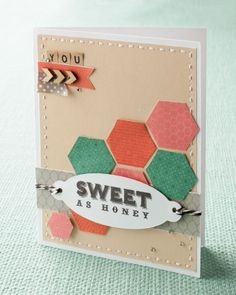 A splash of color AND geometry using the My Acrylix® Honeycomb stamp set. #CTMH