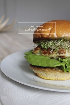 The Ultimate Crabcake Sandwich