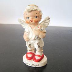 Vintage July boy angel