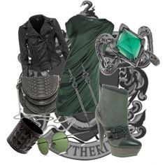 Slytherin Outfit Ideas on Pinterest | Yule Ball, Harry Potter Fashion
