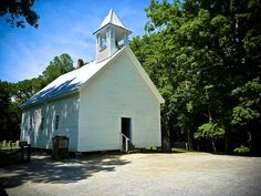 ♥ old churches. This one in Great Smoky Mountains.