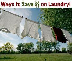 32 Ways to Save Money on Laundry!