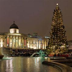 Christmas in London. Be traditional with carol singing at Trafalgar Square.