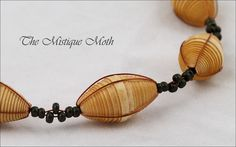 paper beads necklace by Horse Wing, via Flickr