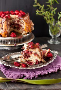 Raspberry Chocolate Coffee Cake - Sweet Weekend