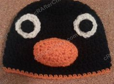 Pingu the Penguin Character Hat Crochet Pattern