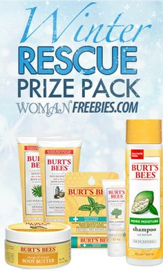 Enter the Burt's Bees Giveaway for a chance to win a Winter Rescue Package that's filled with moisturizing lotions, body butters, and shampoo that will defeat winter dryness!