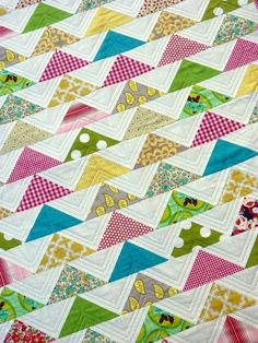 The Modern Flying Geese Quilt Pattern (PDF file) by Red Pepper Quilts. $8.50, via Etsy - http://www.etsy.com/listing/57964638/the-modern-flying-geese-quilt-pattern